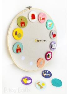 imagen de reloj con actividades diarias