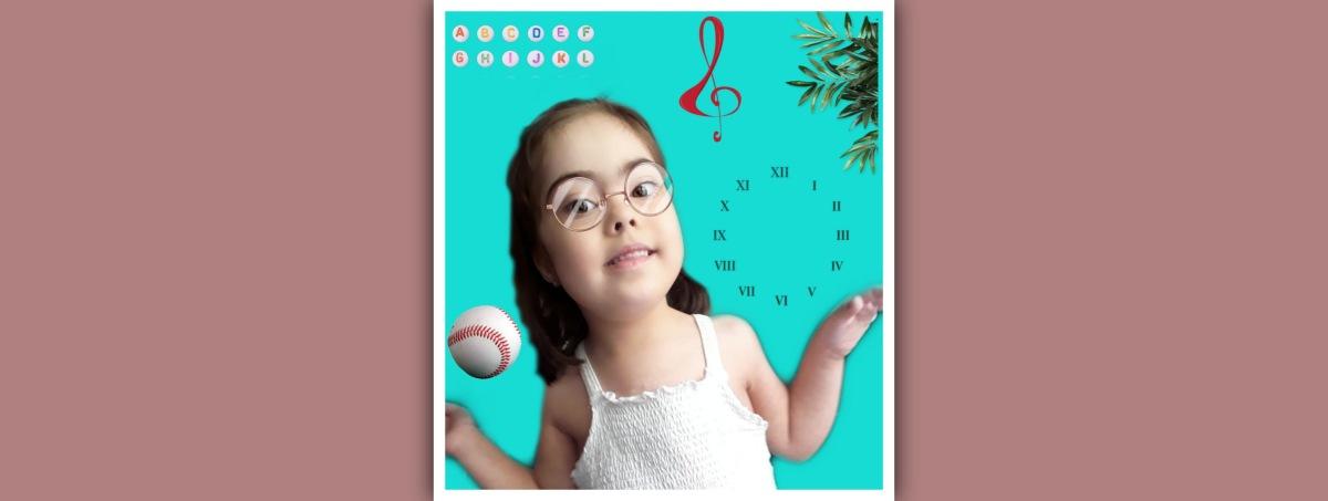 niña con sindrome de down representando las inteligencias multiples
