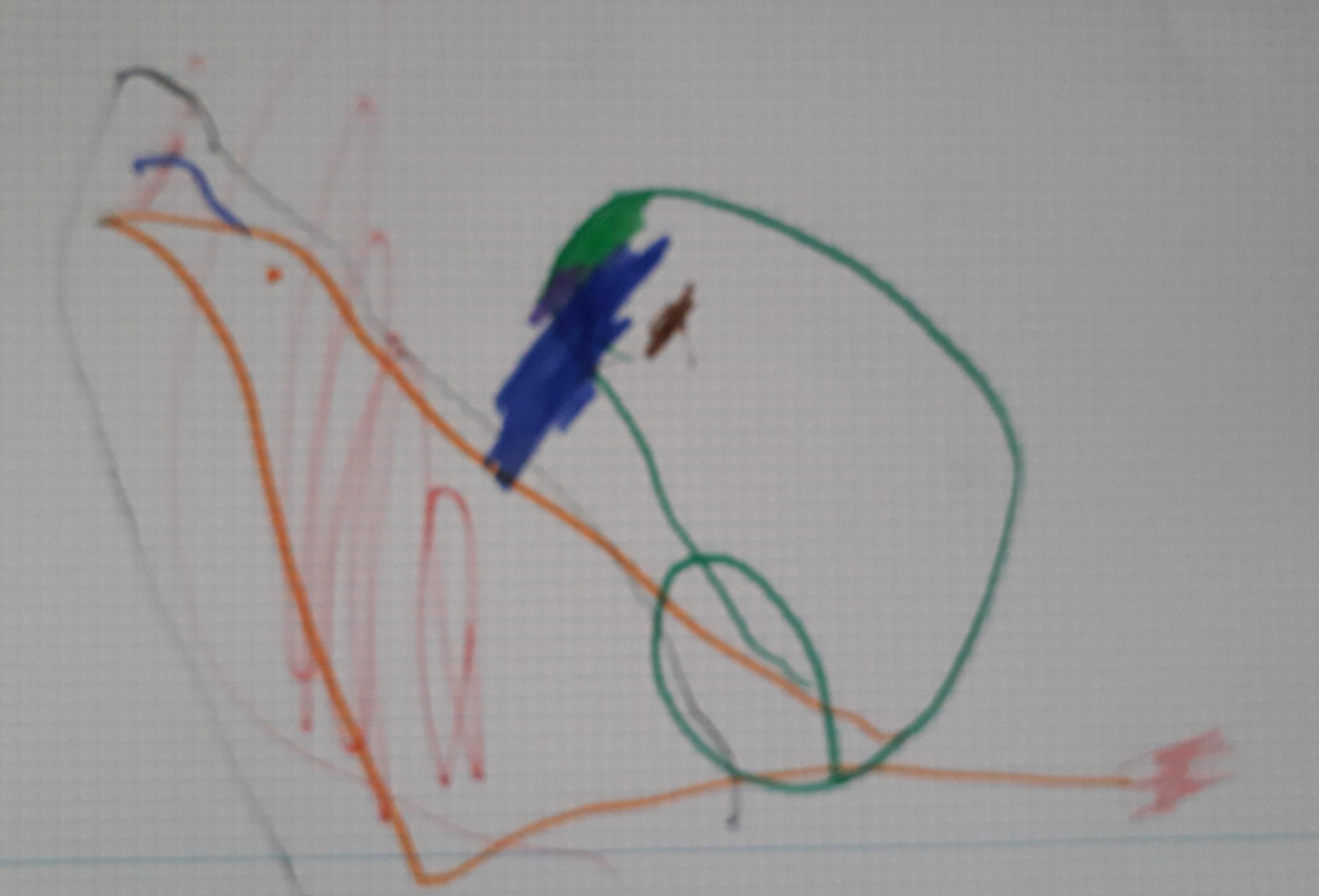 dibujo niña sindrome down