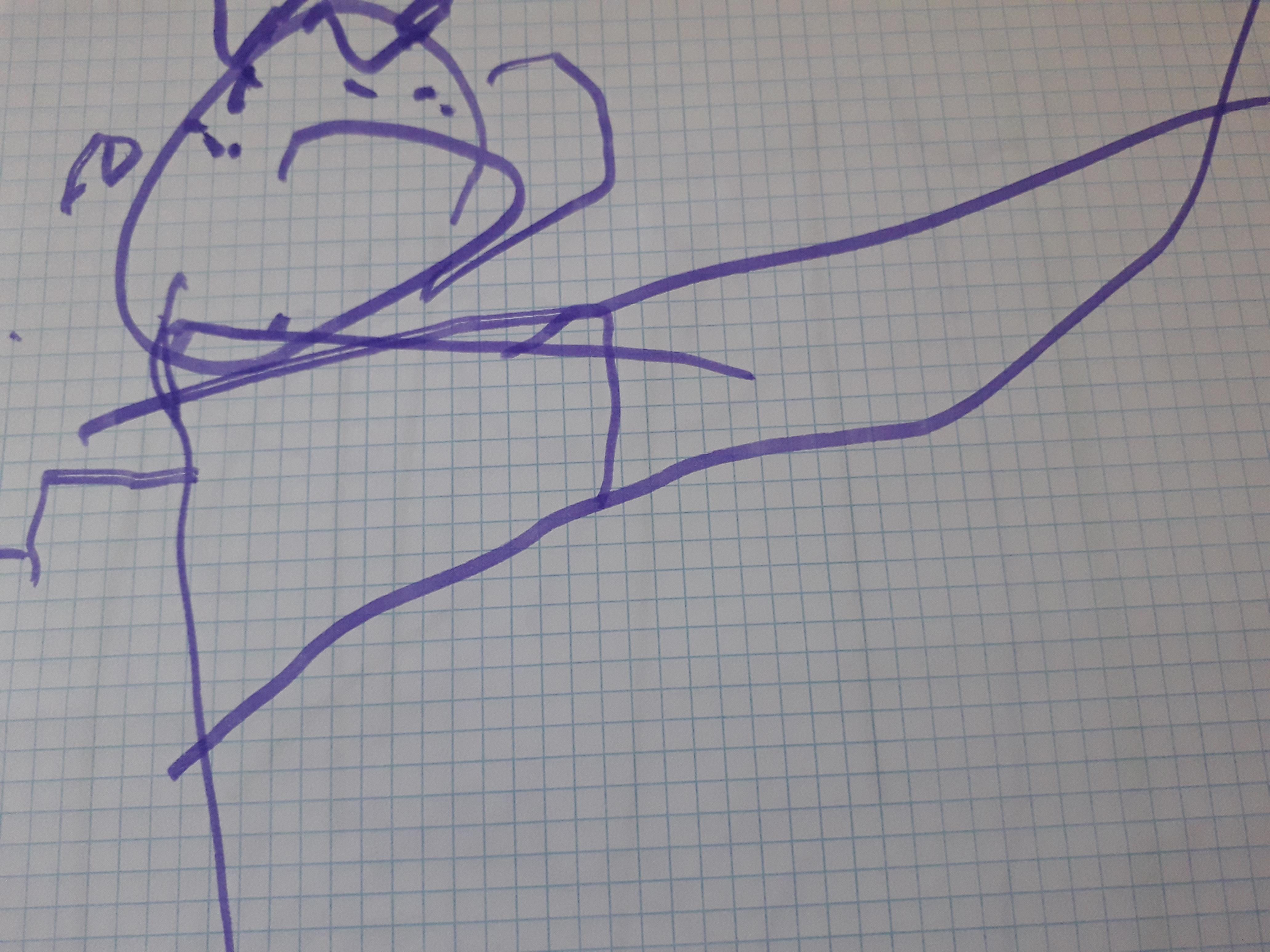 dibujo infantil niña con sindrome de down
