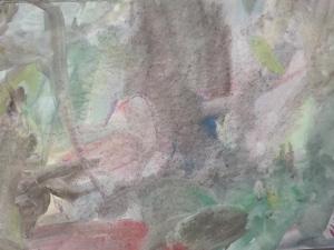 pintura con acuarelas hecha en su escuela de educacion activa