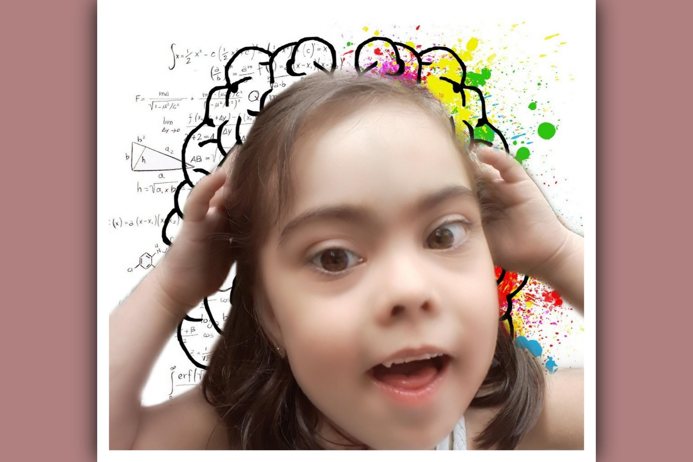 imagen de hemisferios cerebrales en una niña con sindrome de down